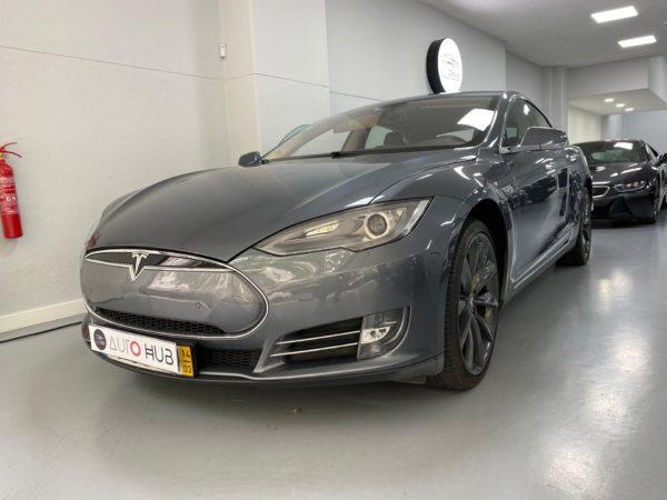 Tesla Model S P85+ Usado 2014 Stand Auto Hub Carros Usados e Seminovos A melhor seleção de automóveis Tesla Usados Stand em Lisboa_2